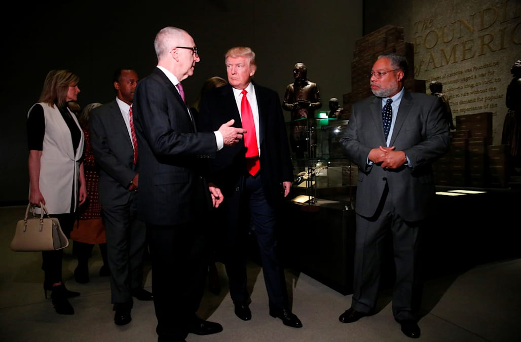 President Trump toured the National Museum of African American History and  Culture for the first time on Tuesday morning, with Housing and Urban  Development ...