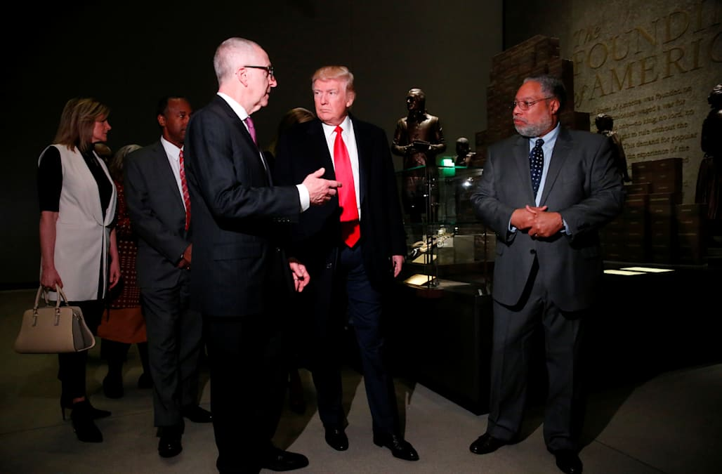 President trump visits african american history museum for Traditions of america floor plans