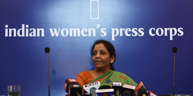 Defence minister Nirmala Sitharaman at the Indian Women's Press Corps in New Delhi on Tuesday.