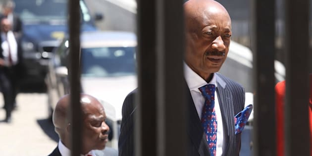 Tom Moyane arrives in Parliament on November 28, 2017 in Cape Town, South Africa. Moyane appeared before the committee to present the revenue service's annual report and to field questions about the suspension, investigation and reinstatement of Jonas Makwakwa.
