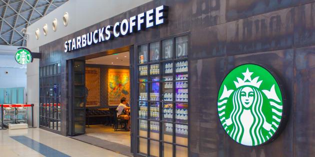 Una de las cafeterías de Starbucks.