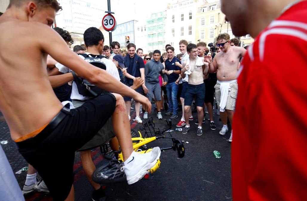 england fans smash up ikea bus stop after win against sweden aol news. Black Bedroom Furniture Sets. Home Design Ideas