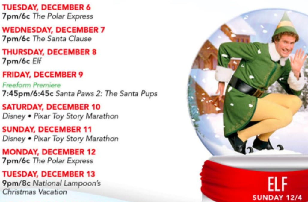 freeforms 25 days of christmas list is here and it is lit