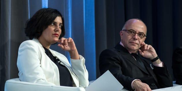 Bernard Cazeneuve et Myriam El Khomri le 12 janvier à Paris