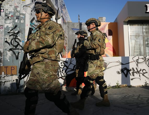 National Guard patrols L.A. after night of violence