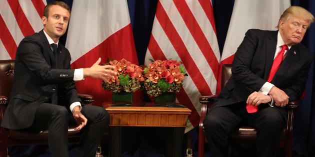 Emmanuel Macron et Donald Trump à New York en septembre 2017