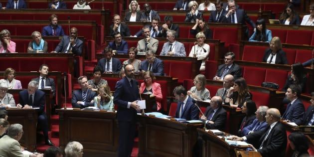 Le Premier ministre Édouard Philippe s'exprime à l'Assemblée nationale le 9 août.