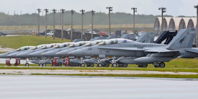 Escadrille en station sur la base de Guam en septembre 2015.