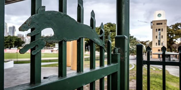 The gates are closed at Wentworth Park, Sydney, NSW.
