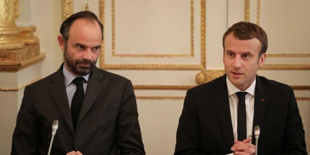 Edouard Philippe et Emmanuel Macron à l'Elysée le 30 octobre.