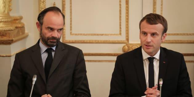 Edouard Philippe et Emmanuel Macron lors d'une réunion à l'Elysée le 30 octobre 2017