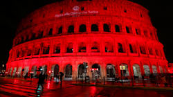 Rome's Colosseum Turned Red In Protest Against Pakistan Blasphemy