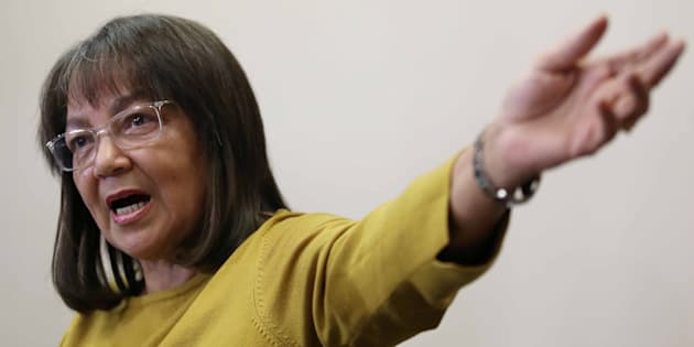 Patricia de Lille addresses the media after her ousting as Cape Town mayor by the Democratic Alliance on May 08, 2018 in Cape Town.