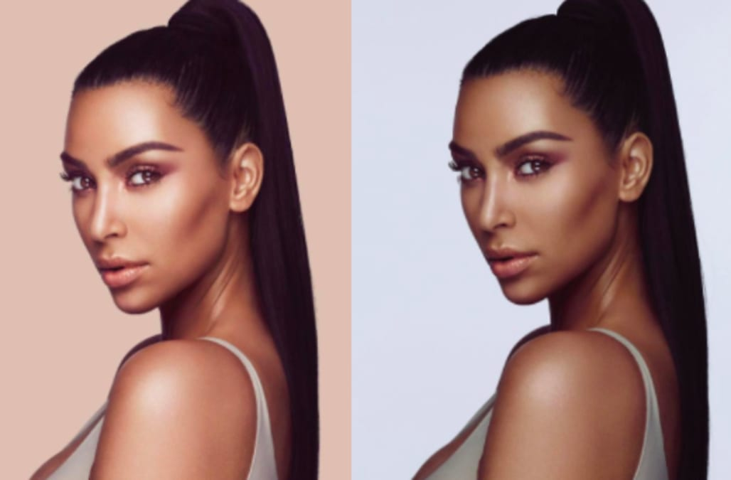5de5cb81e Kim Kardashian West is being accused of blackface in her new beauty campaign