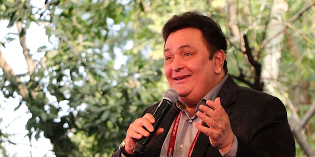 Bollywood actor Rishi Kapoor speaks  during the Jaipur Literature Festival at Diggi Palace in Jaipur.