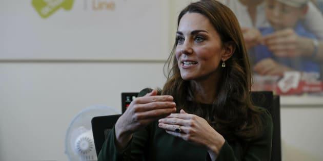 Kate Middleton durante su visita a la asociación Family Action este martes.