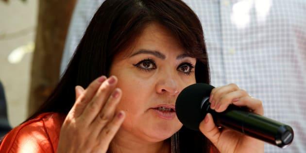 Nestora Salgado es candidata de Morena al Senado de la República.