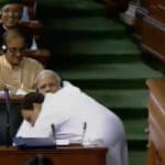 Rahul Gandhi Hugs Narendra Modi In Parliament, Congress President Asks PM To Look Him In The