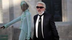Karl Lagerfeld transformé sans ses fameux verres