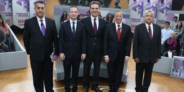 Los candidatos presidenciales en el segundo debate en la Universidad Autónoma de Baja California (UABC)