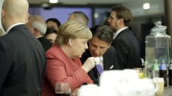 Merkel flirta con Conte a Davos: