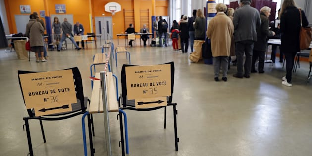 Vote à Paris ce dimanche 23 avril.
