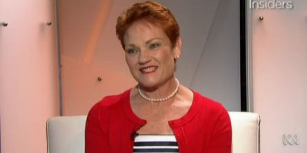 Pauline Hanson on Insiders on Sunday