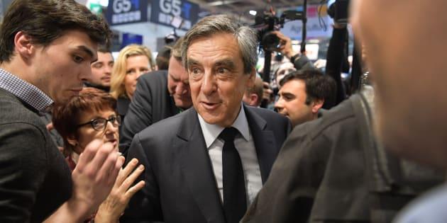 François Fillon ce mercredi 1er mars au Salon de l'Agriculture.
