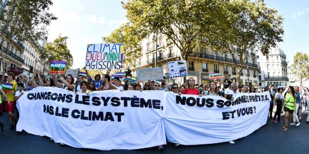 40.000 personnes ont participé à la Marche pour le climat le 8 septembre 2018 à Paris.