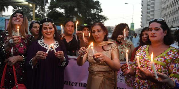 Manifestation de personnes transgenres au Pakistan le 20 novembre 2017.