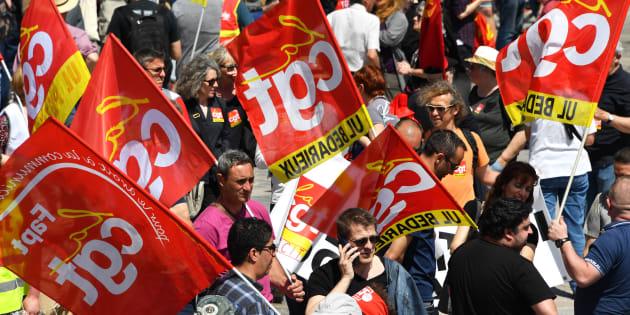 Une manifestation de la CGT à Montpellier.
