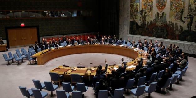 Un vote au conseil de sécurité de l'ONU, le 19 décembre 2016. REUTERS/Andrew Kelly.