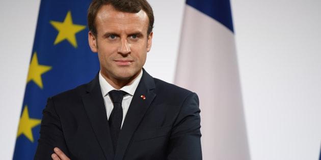 Emmanuel Macron à l'Élysée le 21 décembre.