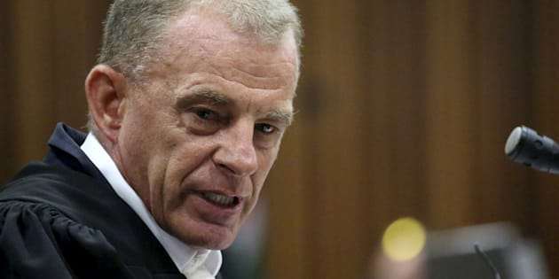 State prosecuter Gerrie Nel during Oscar Pistorius' bail hearing in 2015.