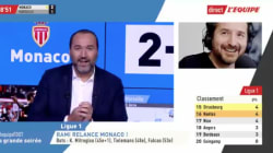 Edouard Baer s'incruste sur La chaîne L'Équipe en plein