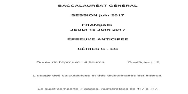 Les corrigés du bac de français des séries L, ES, S et techno
