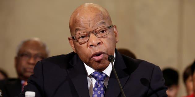 John Lewis le 11 janvier au Sénat lors des auditions de Jeff Sessions, choisi comme ministre de la Justice des États-Unis par Donald Trump