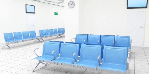 An ideal hospital waiting room.