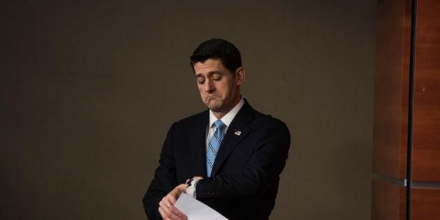 House Speaker Paul Ryan (R-Wis.) on Trump's baseless claims of voter fraud: Meh.