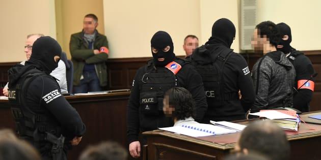Salah Abdeslam au palais de justice de Bruxelles, le 5 février.