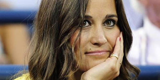 epa03385312 Pippa Middleton, sister of Catherine, Dutchess of Cambridge, watches Andy Murray of Great Britian play Marin Cilic of Croatia during their quarterfinals round match on the tenth day of the 2012 US Open Tennis Championship at the USTA National Tennis Center in Flushing Meadows, New York, USA, 05 September 2012. The US Open runs through Sunday 09 September 2012.  EPA/JASON SZENES