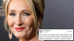 J.K. Rowling Is Copping It After Apologising For Killing