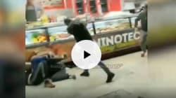 Botte e bastonate ai tifosi russi: il video dell'aggressione dei romanisti prima della partita di