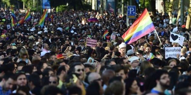 Desfile del Orgullo de 2017, en Madrid.
