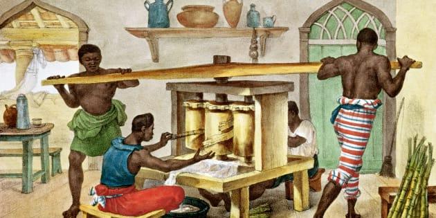 Ilustração de Jean Baptiste Debret disponível na Biblioteca Nacional de Paris, na França