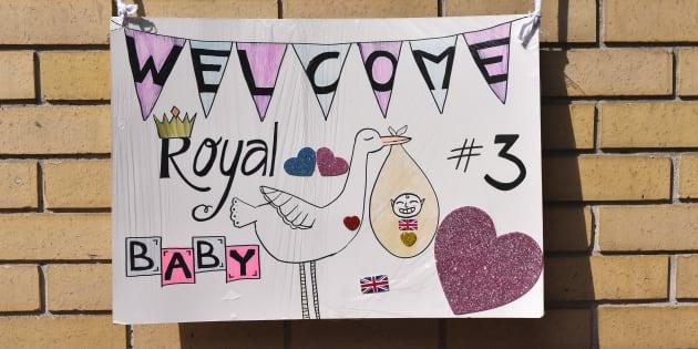 Les fans de la famille royale ont confectionné ce petit dessin pour la naissance du troisième 'Royal baby'