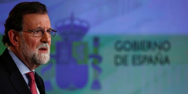 El presidente del Gobierno, Mariano Rajoy, en la rueda de prensa en el palacio de La Moncloa.  REUTERS/Juan Medina