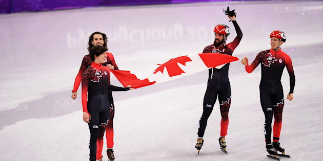 Samuel Girard, Charles Hamelin, Charle Cournoyer et Pascal Dion.
