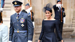 Meghan Markle Makes This Wild Fascinator Look Chic At The Royal Air Force