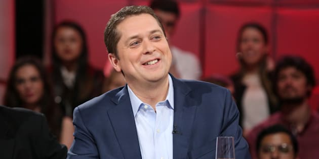 "Conservative Leader Andrew Scheer is shown on ""Tout le Monde en Parle"" on May 6, 2018."